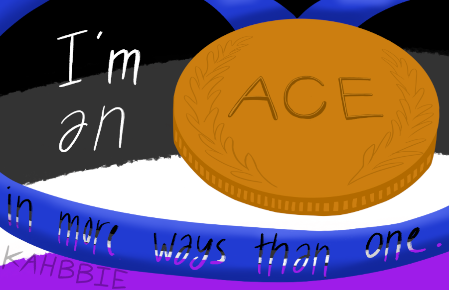 Ace in more ways than one Kahbbie LGBT Typography