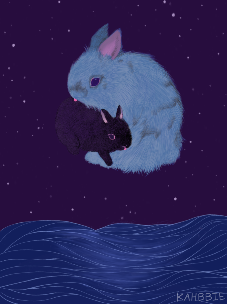 Boo and Luna the Moon by Kahbbie