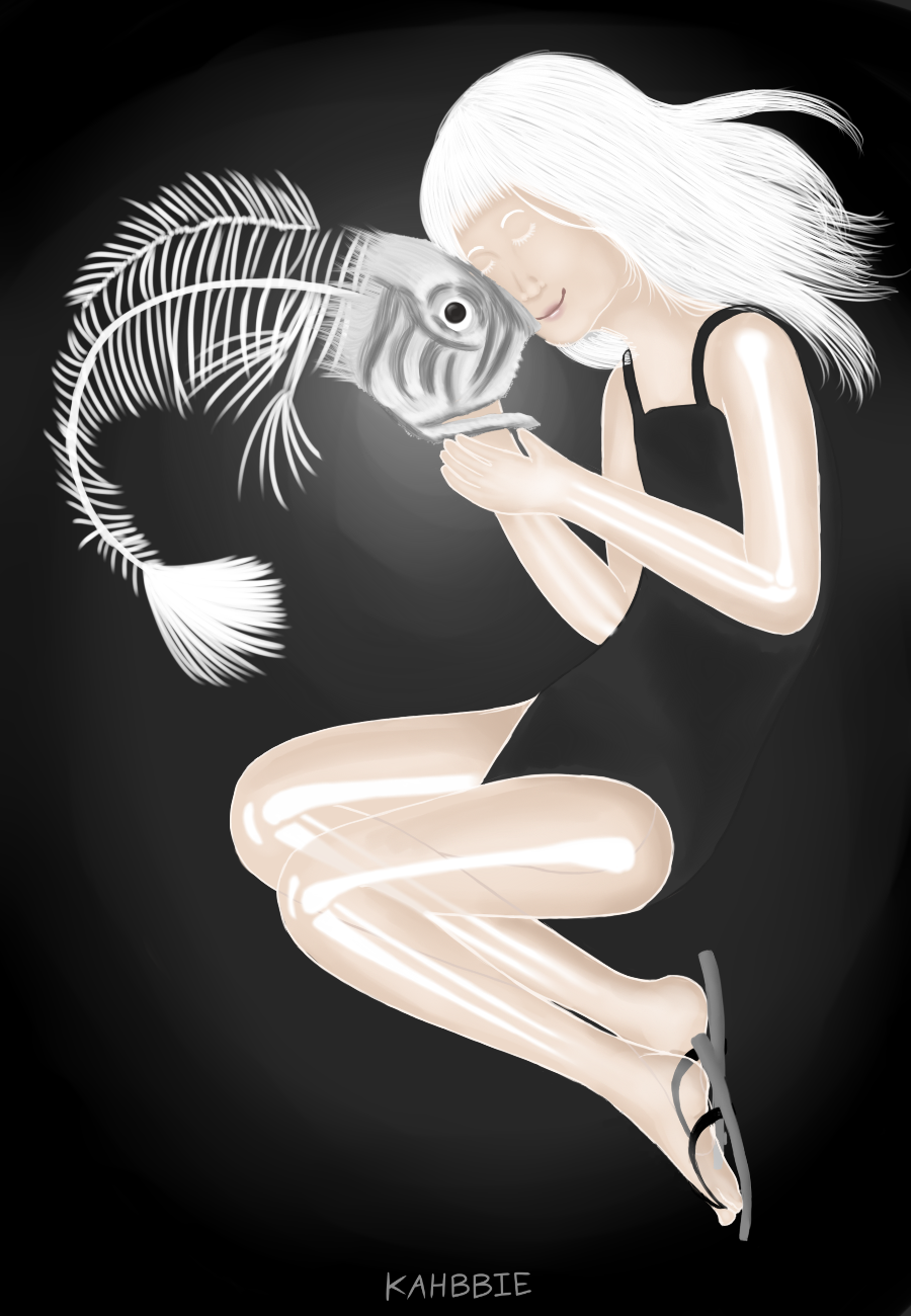 Ghost Girl and Dead Fish by Kahbbie